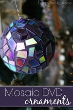 Mosaic DVD Ornaments – Another Great Way to Use Old DVDs