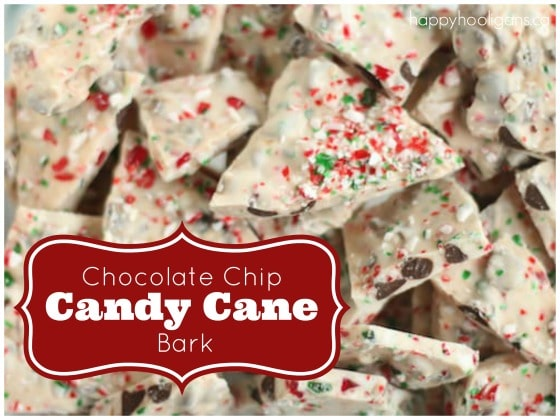 Quick and Easy Chocolate Chip Candy Cane Bark