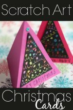 Scratch Art Christmas Cards for Kids to Make