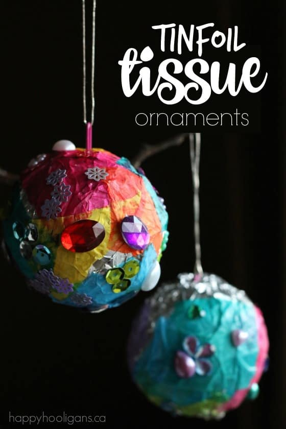 Tinfoil and Tissue Paper Ornaments