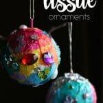 Tinfoil Tissue Paper Ornaments