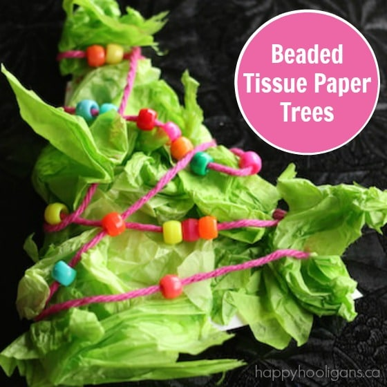 Tissue Paper Christmas Tree ACtivity