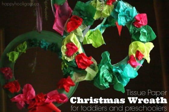 tissue paper Christmas wreath p