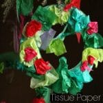 Tissue Paper Christmas Wreath for Preschoolers and Toddlers