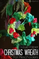 Tissue Paper Christmas Wreath for Toddlers and Preschoolers