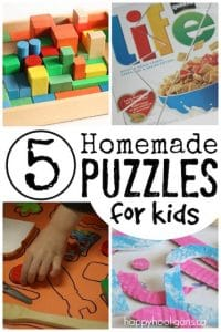 5 homemade puzzles for kids - Happy Hooligans
