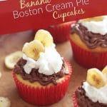 Boston Cream Pie Banana Cupcakes