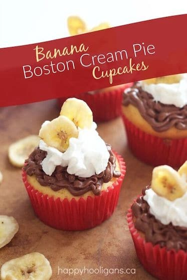 Banana Boston Cream Pie Cupcakes