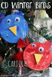 Winter Birds Craft for Preschoolers – CD Blue Jay and Cardinal