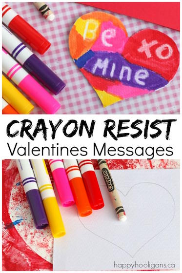 Crayon Resist Valentines Messages