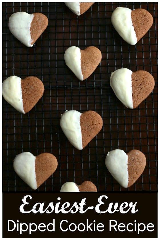 White Chocolate Dipped Gingerbread Cookies - easiest cookie recipe ever - Happy Hooligans