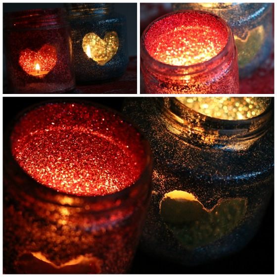 Glitter Jar Tea Light Holders