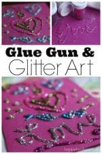 Make Dazzling 3-D Art with a Glue Gun and Glitter