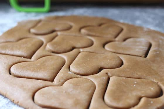Ginger Bread COokie Dough Hearts