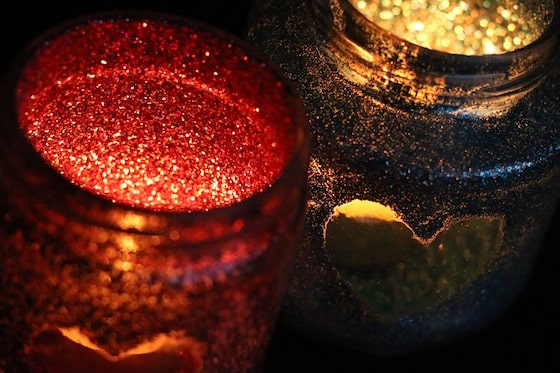 Glittered Tea Light Luminaries - Happy Hooligans