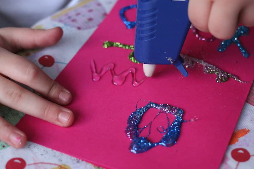 writing with a glue gun