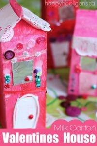 Milk Carton Valentines Houses - Happy Hooligans   Happy Hooligans