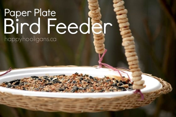 Paper Plate Bird Feeder happy hooligans