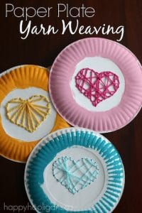 Paper Plate Yarn Weaving copy