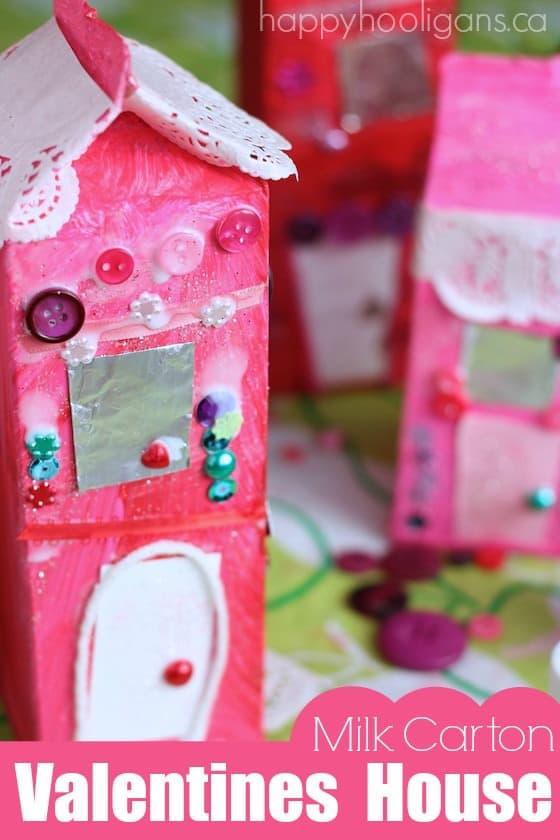 Valentines Milk Carton Houses - Happy Hooligans