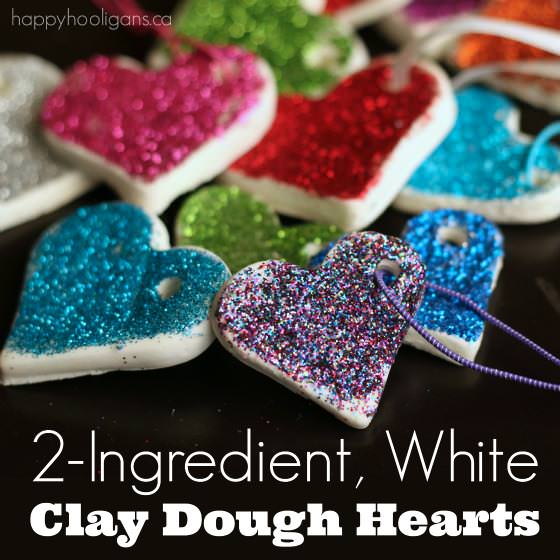 2 Ingredient, White Clay Dough Hearts   Happy Hooligans