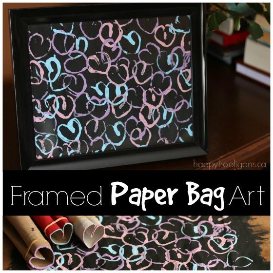 Framed Paper Bag Art - Happy Hooligans