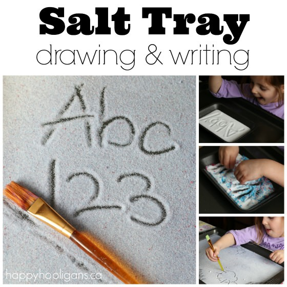 Salt Tray Drawing and Writing Activity - Happy Hooligans