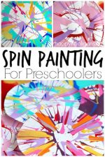 Spin Painting for Preschoolers – No Special Equipment Required!