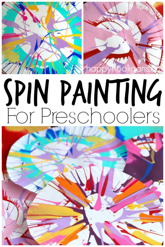 Spin Painting For Preschoolers Happy Hooligans