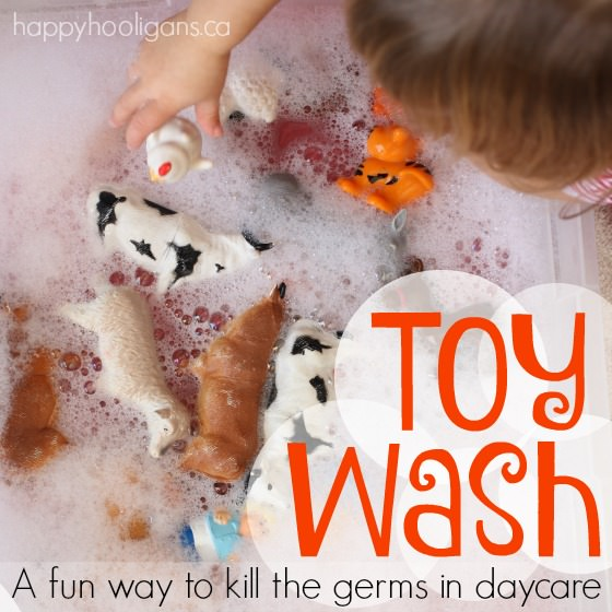A Toy Wash - fun way to kill germs on toys at daycare