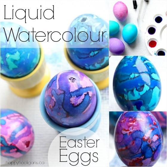 Decorating Easter Eggs with Liquid Watercolours by Happy Hooligans