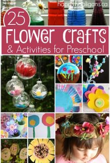 Flower crafts and activities for toddlers and preschoolers - Happy Hooligans