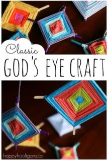 God's Eye Craft for Kids - fine motor, weaving, co-ordination and colour! - Happy Hooligans