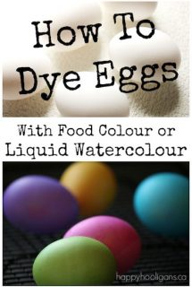 How to Dye Easter Eggs with Food Colouring (or Liquid Watercolours)