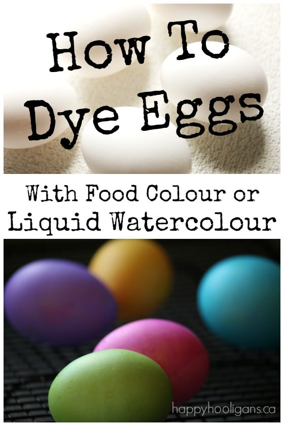 How To Dye Eggs with Liquid Water Colours or Food Colouring