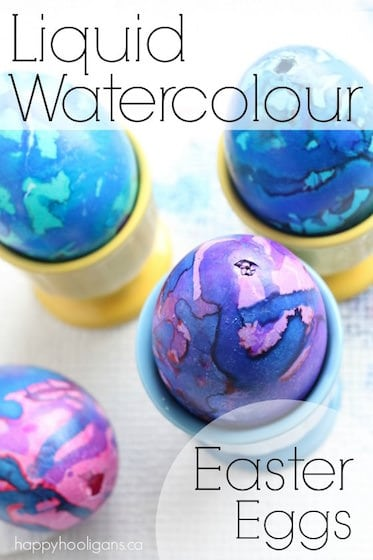 Decorating Easter Eggs with Liquid Watercolours