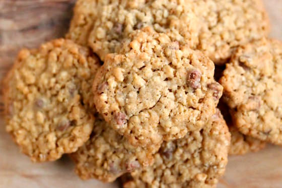 Cookies with rice krispies, chocolate chips and oatmeal
