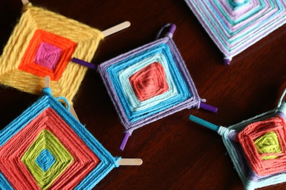 photograph regarding God's Eye Printable Instructions known as Colorful Gods Eye Craft - Weaving for Little ones - Joyful Hooligans