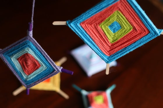 Colourful God S Eye Craft Weaving For Kids Happy Hooligans
