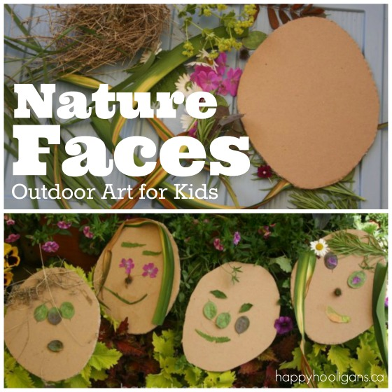 Nature Faces - Outdoor Art for Kids - Happy Hooligans