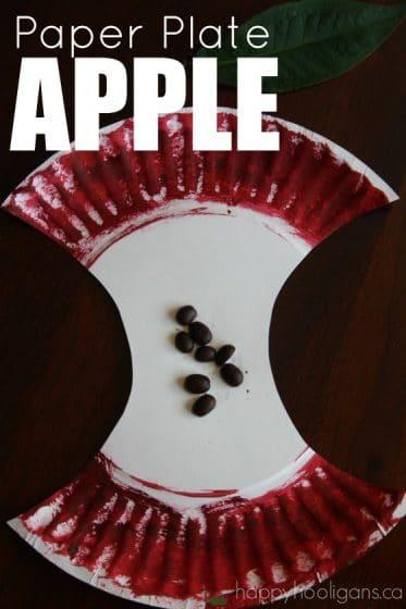Paper Plate Apple Craft for Preschoolers