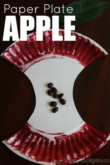 Paper Plate Apple Craft for Preschoolers Happy Hooligans