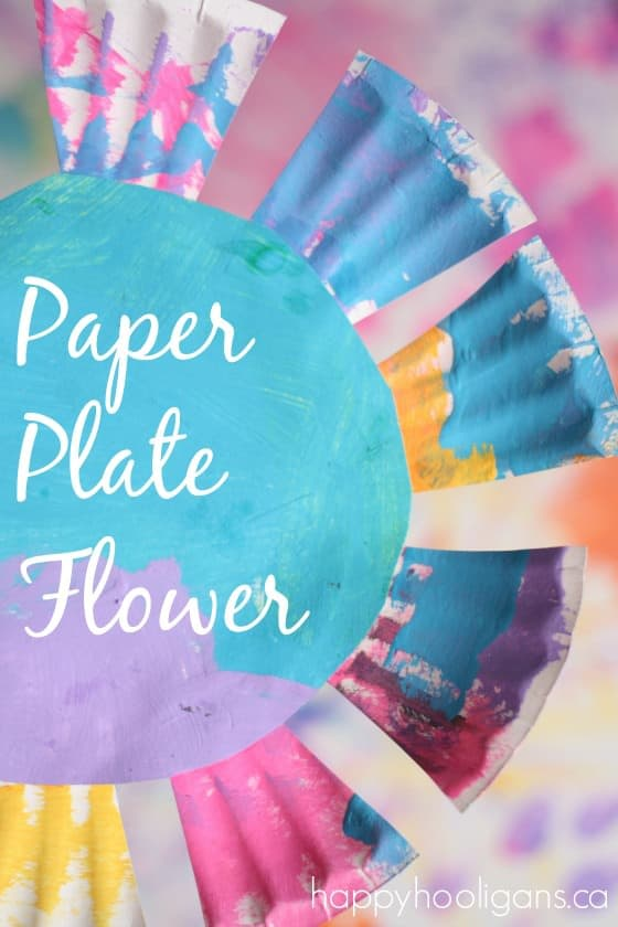 Paper Plate Flower Craft - Happy Hooligans