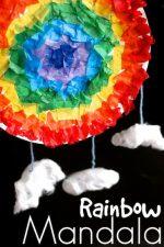 Paper Plate Rainbow Mandala