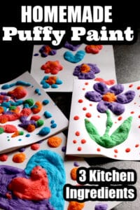 3 Ingredient Homemade Puffy Paint Recipe