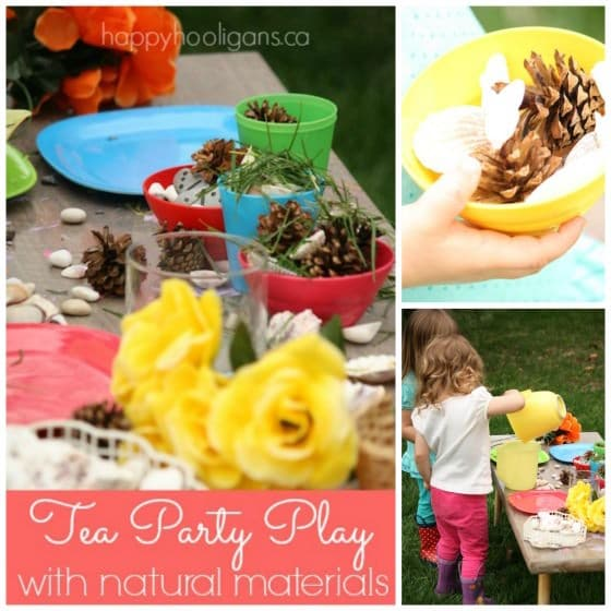 Backyard Tea Party with Natural Items - Happy Hooligans