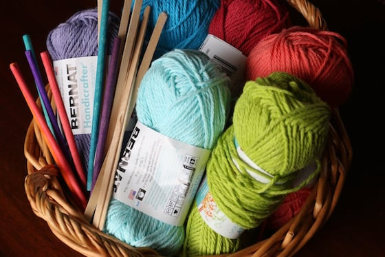 yarn and craft sticks