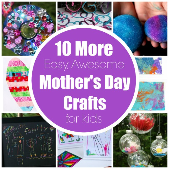 More easy mother 39 s day crafts for kids to make happy for Mother s day projects for preschoolers