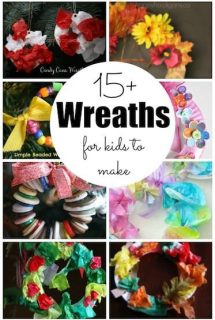 15+ wreaths for toddlers and preschoolers to make