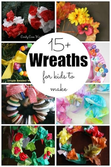 15+ Easy Wreaths for Kids to Make